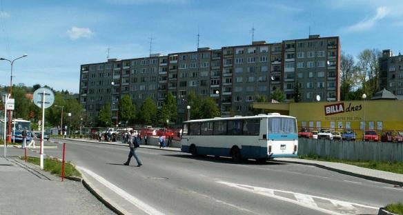 Bus terminal of Banska Stiavnica