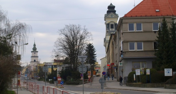 Going to the city centre of Prievidza