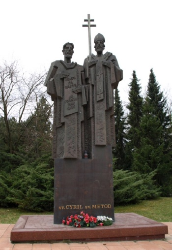 Statue of St. Cirilo and Methodius