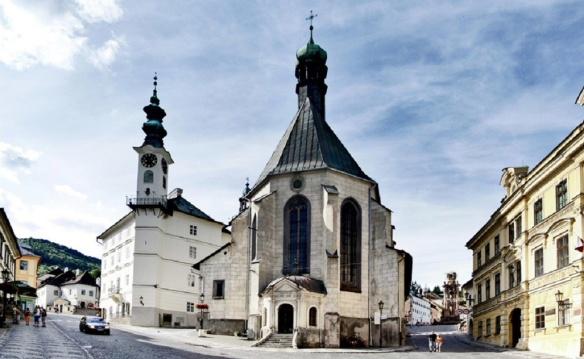 Town Hall and Kostol svätej Kataríny (St. Catherine's Church) of Banská Štiavnica