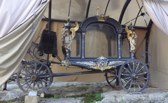 Pálffy funeral carriage inside the castle
