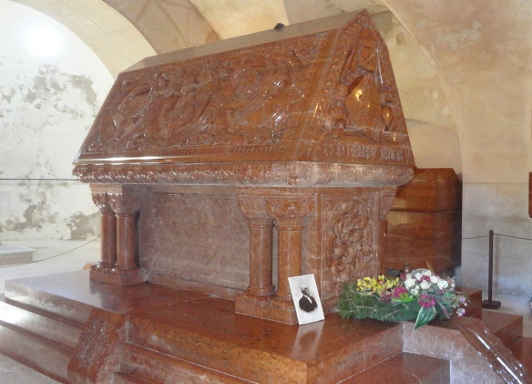 Count Pálffy's resting place - his sarcophagus.