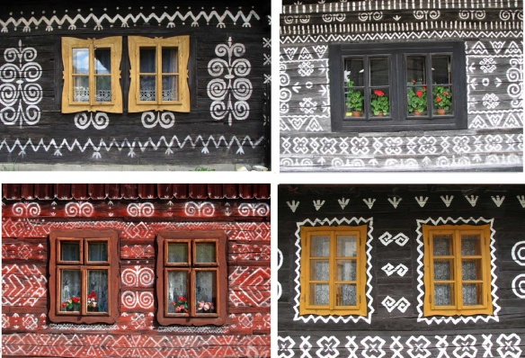 Windows of the houses