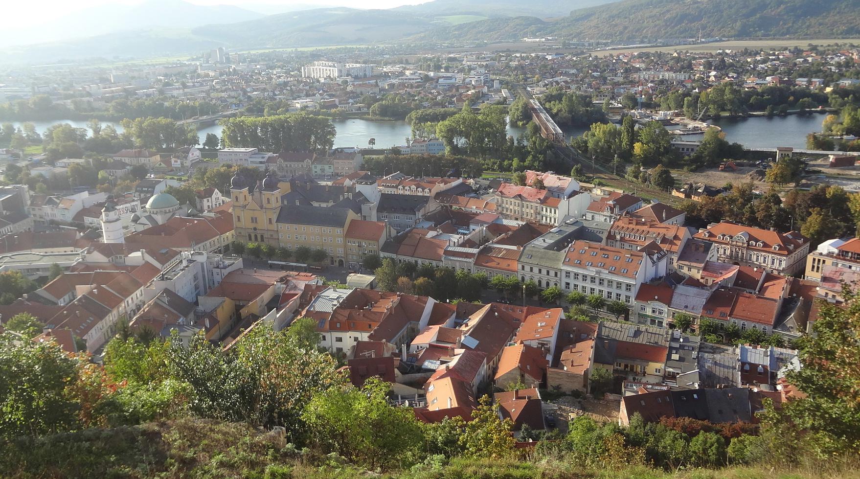 Trencin Slovakia  city photo : Town of Trenčín, the view from Trenčín Castle