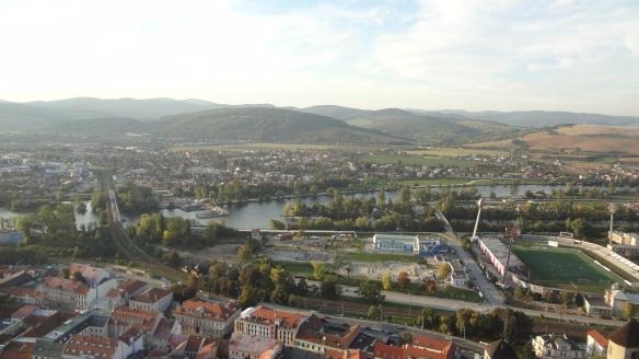 Trenčín town from the Castle