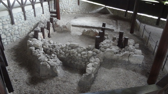 Fundamentals of early Christian chapel at Devin Castle, found archaeological research in 1975