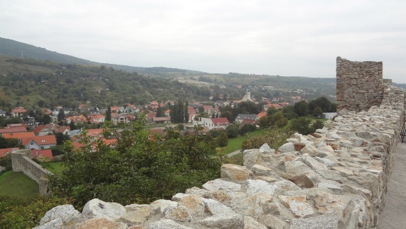 Devín Town, the view from the Castle.