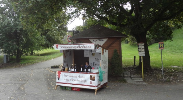 Souvenir stand outside the Devín Castle