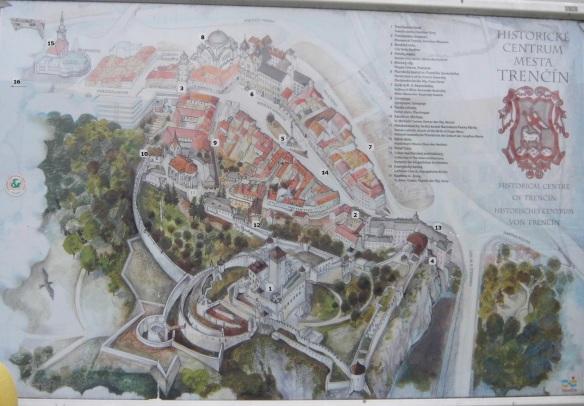 Trenčín Historical Centre Map