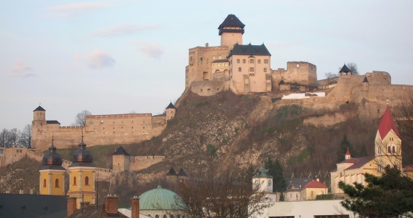 Trenčín Castle, the view from Historical Centre