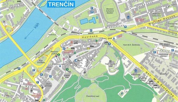 Trenčín Map