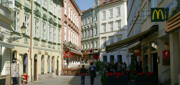 On the way to the old town, Bratislava