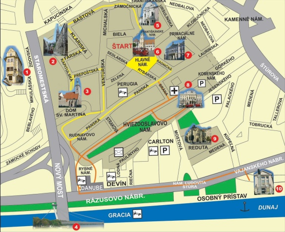 Bratislava Old Town Map
