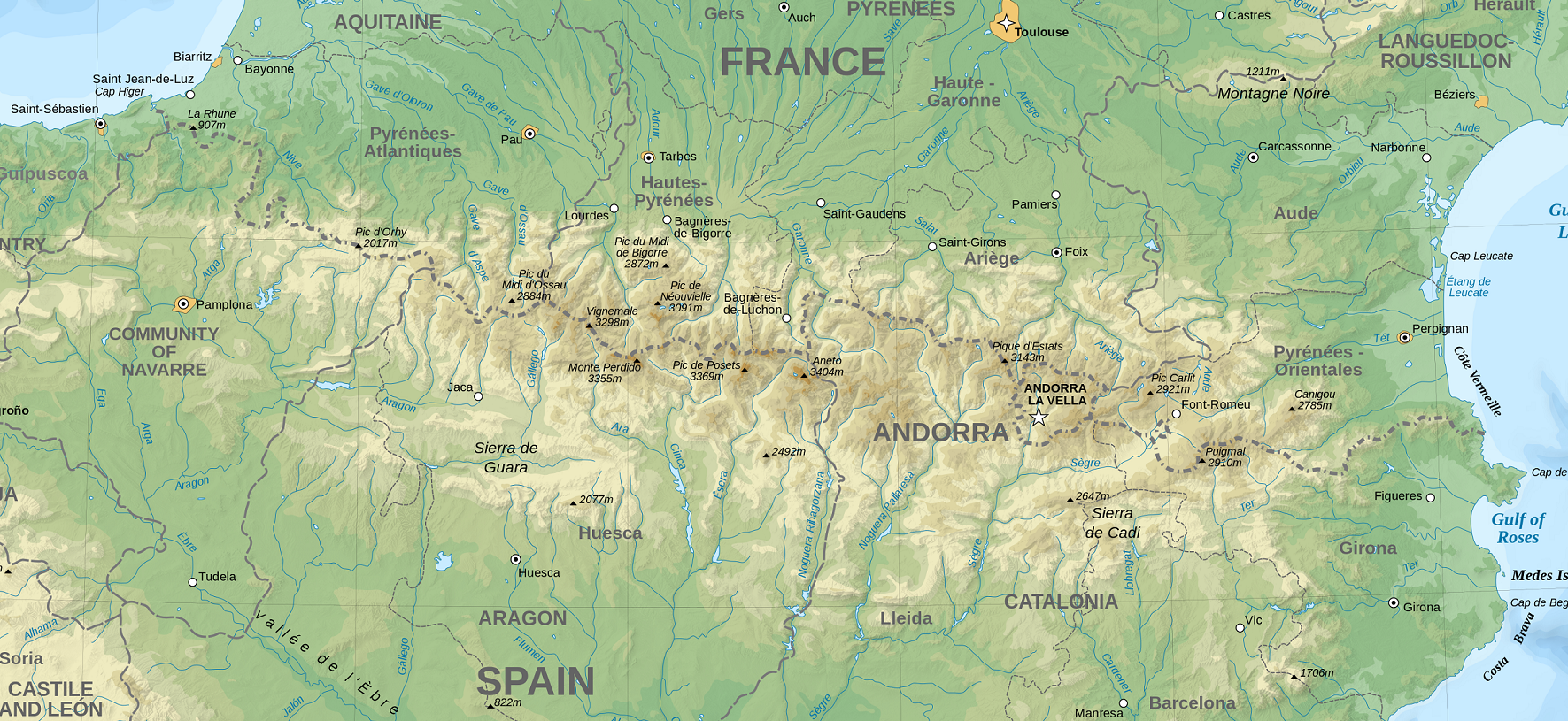 Pyrenees Map | weepingredorger