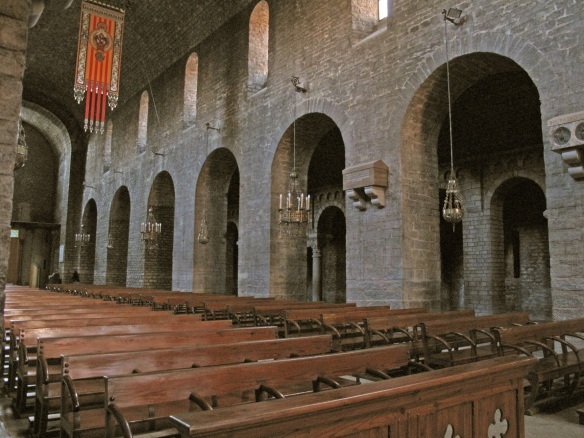 The interior of Santa Maria Church Ripoll