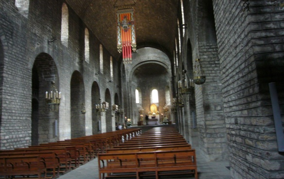 The Nave of Santa Maria Church Ripoll