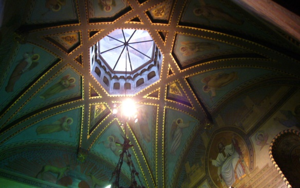 Ceiling painting of Church of Santa Maria Ripoll