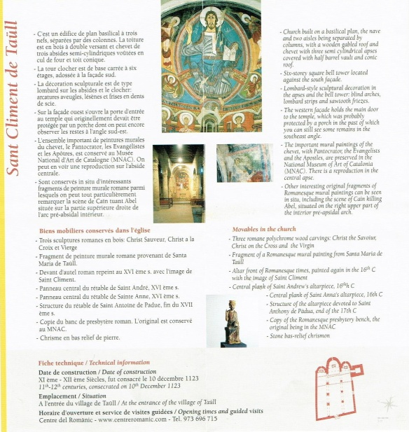 The manual of Sant Climent de Taüll