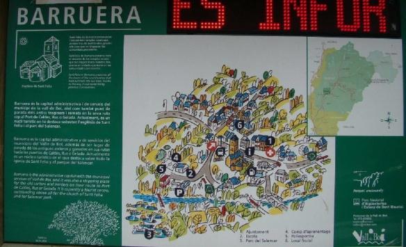 The Map of Barruera Village