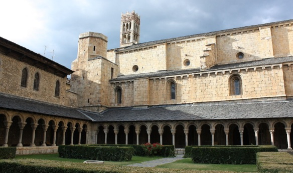 Very beautiful corridor of La Seu d'Urgell Cathedral