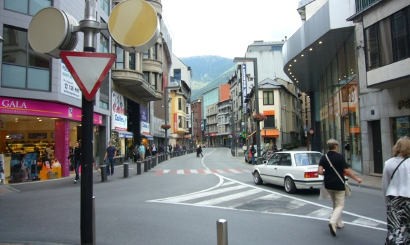 Landscape at the street of Andorra la Vella
