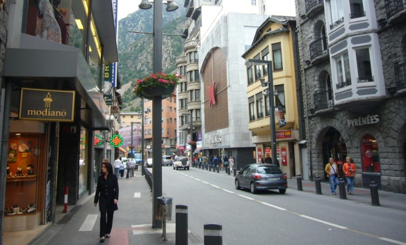 View of the street of Andorra la Vella