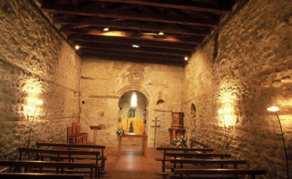 Interior of the Santa Coloma Church