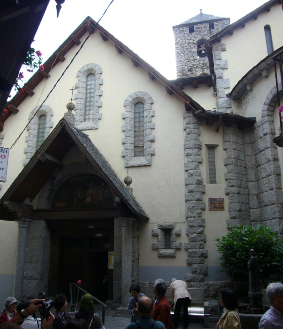 Parish church in the old town of Andorra La Vella