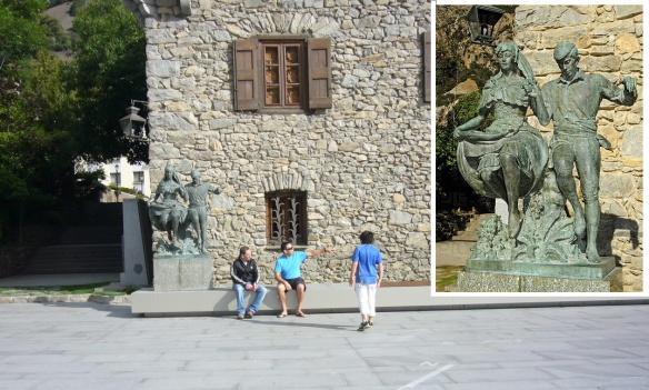 The Statue of Dancing Couple by Joseph Viladomat at Casa de la vall