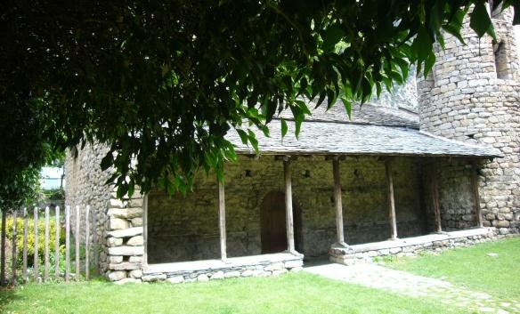 Entrance of the Church of Santa Coloma