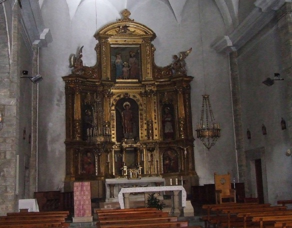 Main altar of Sant Feliu de Sort