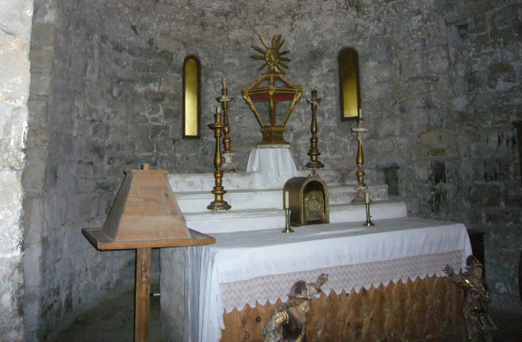 There's a small chapel in the transept of the church.