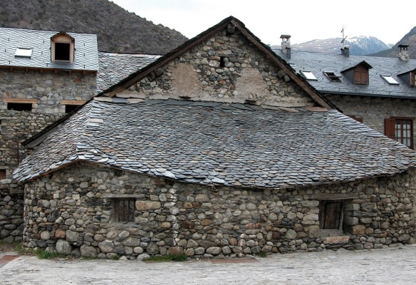 Traditional house of Erill la Vall Village