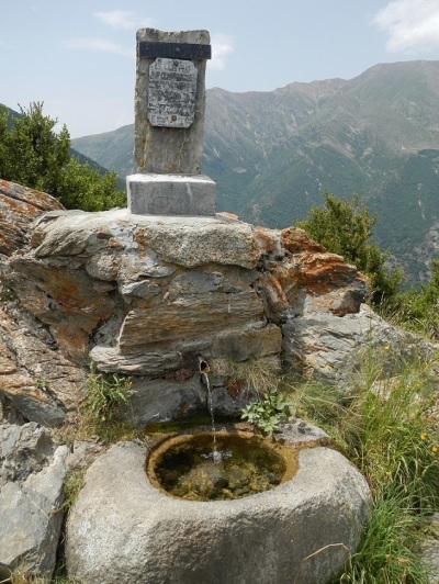 A fountain on the hill