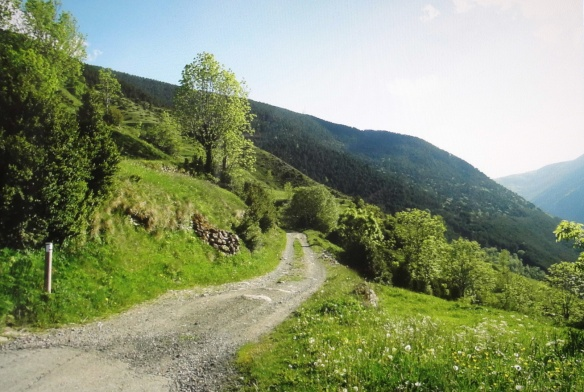 View on the way to the hermitage of Sant Quirc