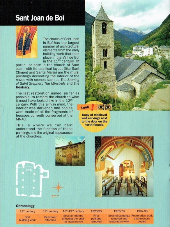 Booklet of the church Sant Joan de Boi.