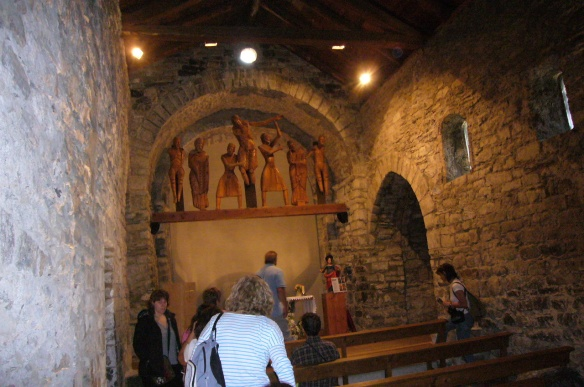 The interior of the church Santa Eulalia, Erill-the-Valley