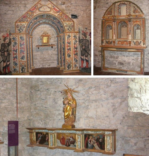 The mural decorations in the church Santa Eulalia.