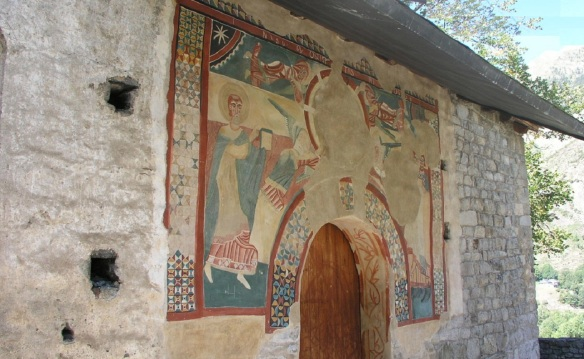 Murals of the church entrance.