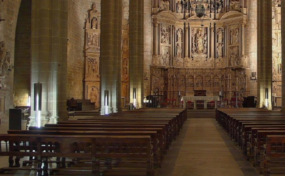 The interior of Barbastro Cathedral.