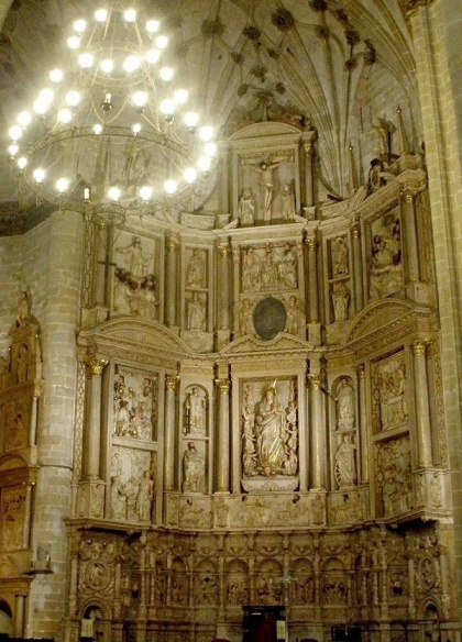 The main altar of Barbastro Cathedral.