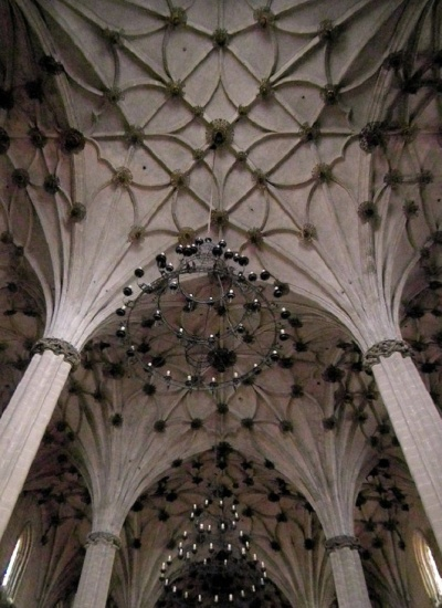Gothic vault of the Barbastro Cathedral