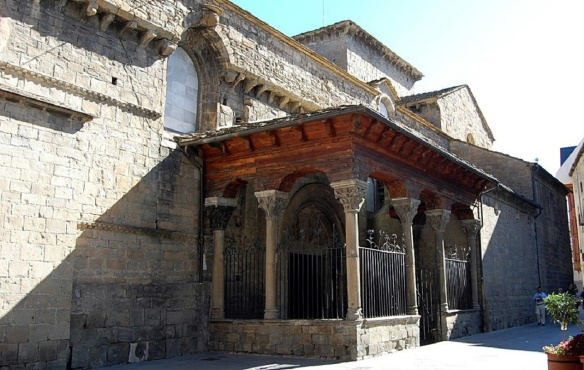 Entrance of Jaca cathedral