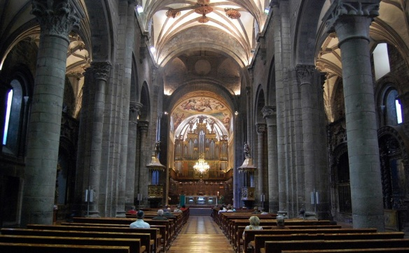 The interior of the cathedral