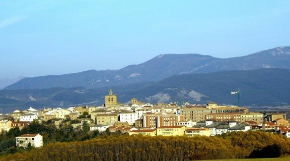 View of Lumbier Town