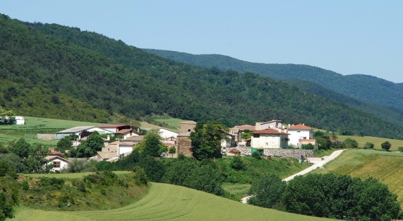 View of Izco Village, on the way from Javier to Monreal.
