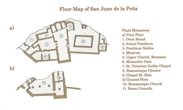Floor Map of San Juan de la Peña