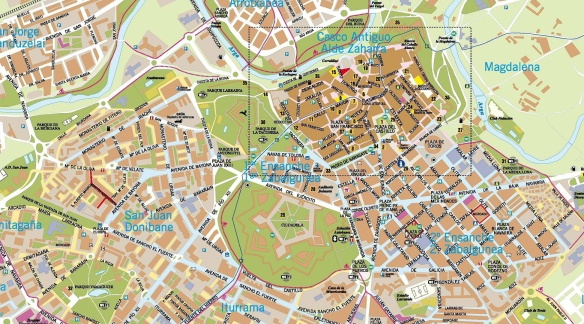 Pamplona Town Map