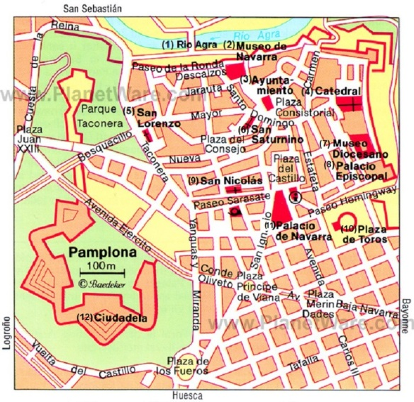 Description map of Pamplona.
