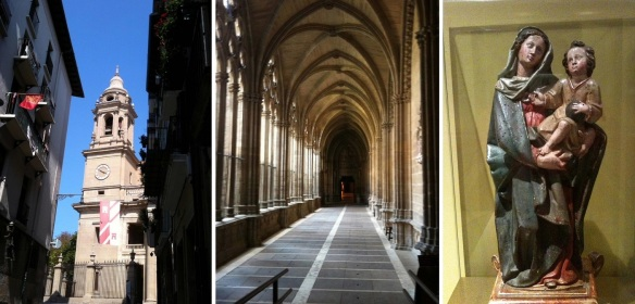 Diocesan Cathedral Museum, its cloister and the Madonna that were on display